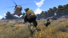 A screenshot of some gameplay on an Arma 3 server