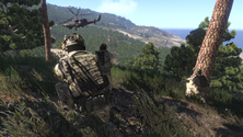 A screenshot of a military team on an Arma 3 server