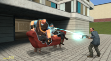 A screenshot from the game Gmod of two players