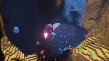 A player is running from a fight in a PixARK server
