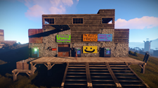 A player-created base in the game rust