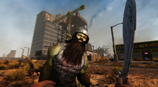 A bearded zombie attacks the player in a Seven Days to Die Server