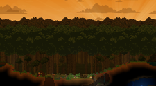 A screenshot from a Starbound game server