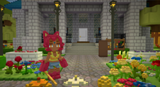 A screenshot of a Staxel holding a sword in a PVE server