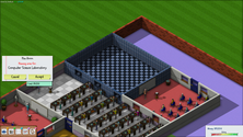 A screenshot of a science laboratory on a UniverCity server