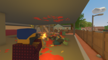A screenshot of some gameplay on some Unturned server hosting