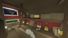 A screenshot of a warehouse on an Unturned server