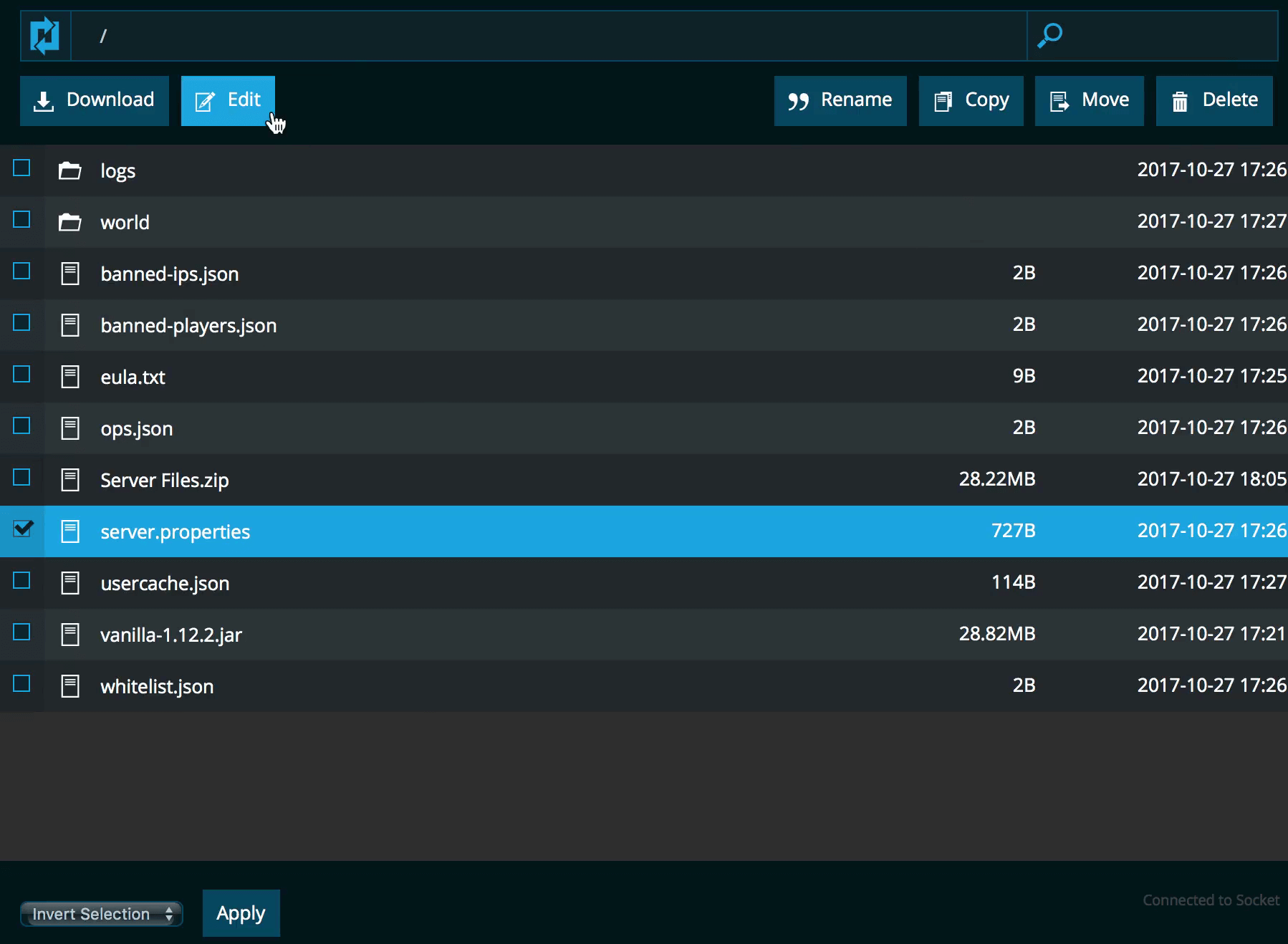 screenshot of NodePanel instant file manager