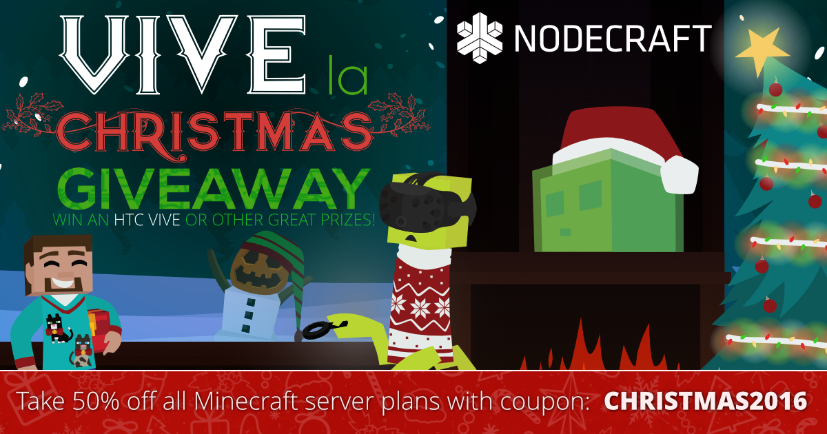 Setup a Minecraft server this Christmas and take 50% OFF your first month!