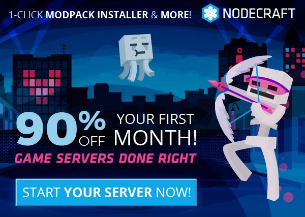 The Nodecraft Cyber sale is here! First 200 customers take 90% off any game server today!