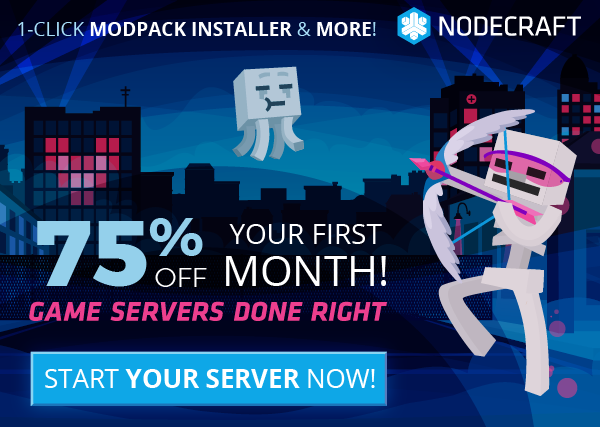 The Nodecraft Cyber sale is here! Take 75% off any game server today!