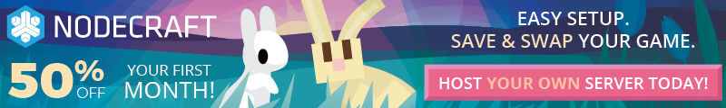 The Nodecraft easter sale is here! Take 50% off any game server today!
