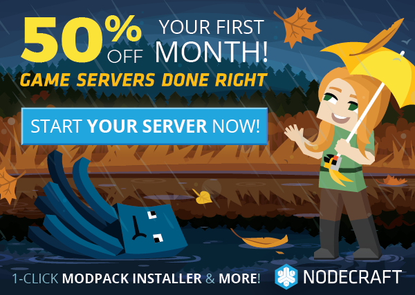 The Nodecraft Fall sale is here! Take 50% off any game server today!