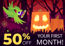 The Nodecraft Halloween sale is here! Take 50% off any game server today!