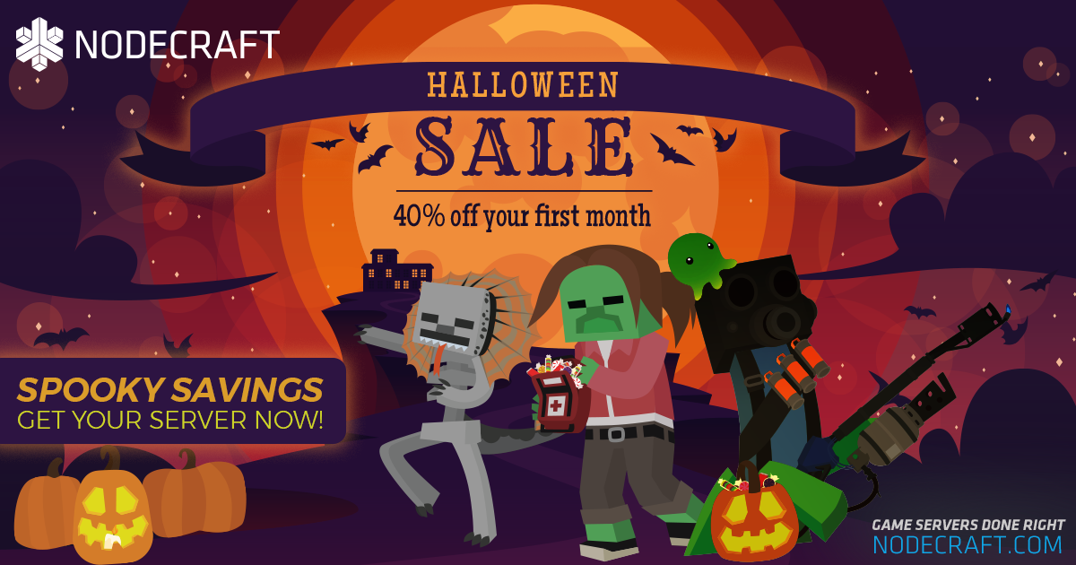 Setup a Minecraft server this halloween and take 50% OFF your first month!