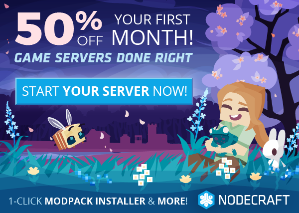 The Nodecraft Spring sale is here! Take 50% off any game server today!