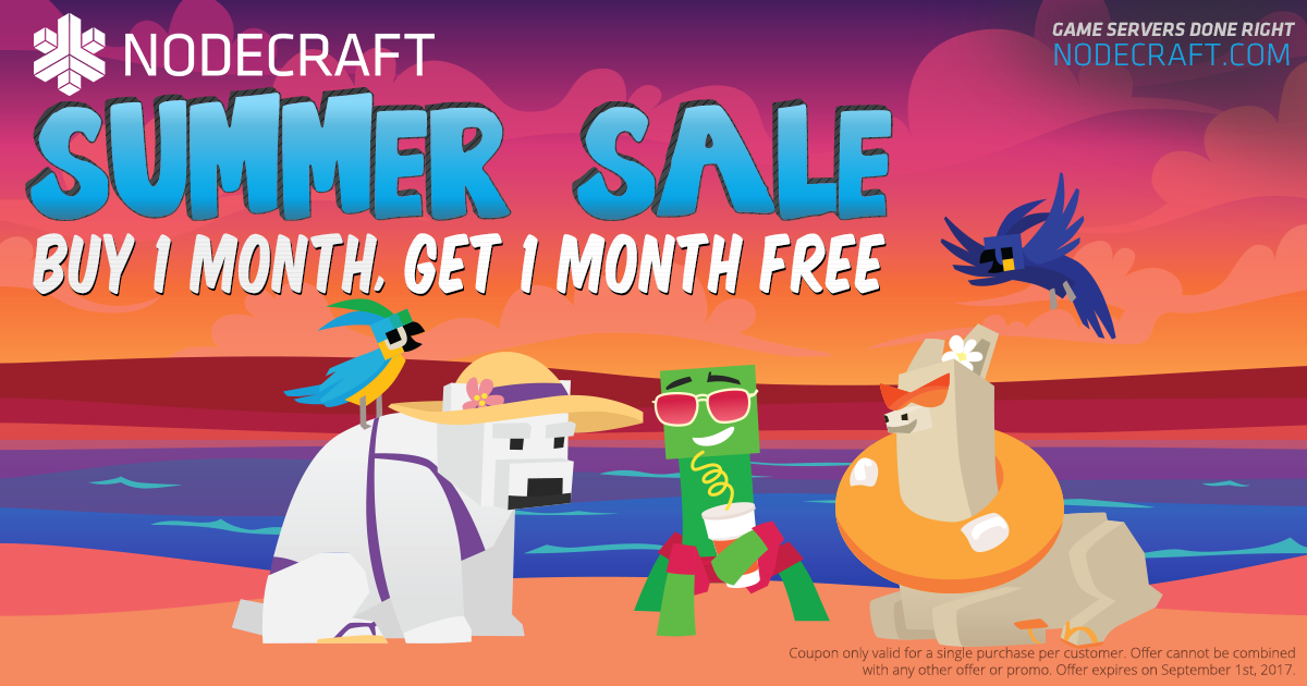 Setup a Minecraft server this summer and take 50% OFF your first month!