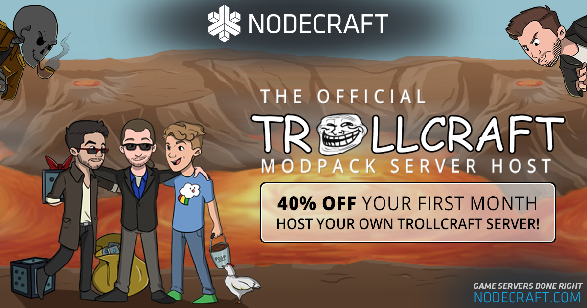 Setup a Trollcraft server and take 40% OFF your first month!