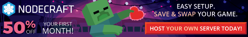 The Nodecraft Valentines sale is here! Take 50% off any game server today!