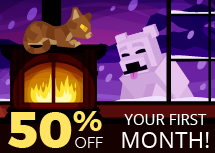 The Nodecraft Winter sale is here! Take 50% off any game server today!